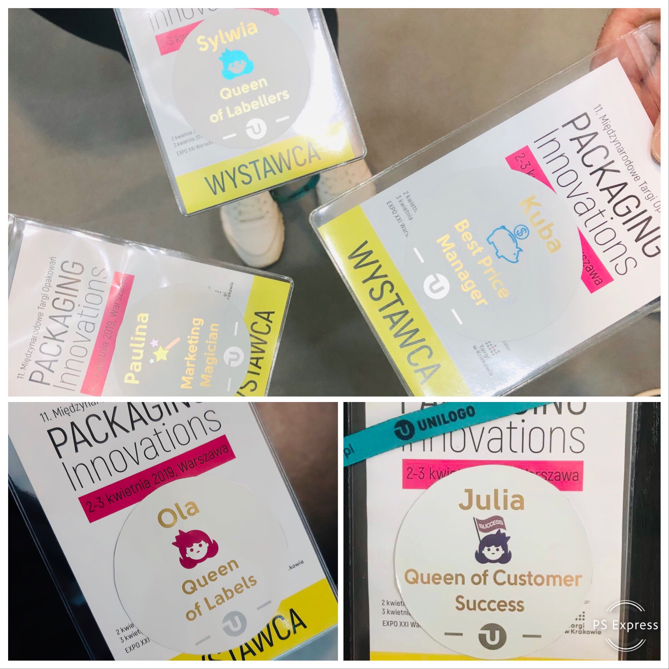 personalizowane etykiety imienne na targi Packaging Innovations 2019